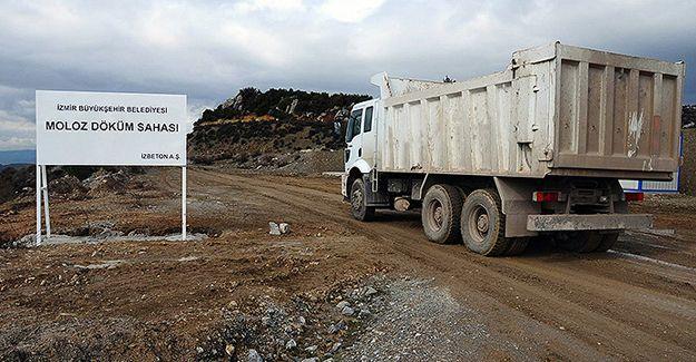 İzmir Büyükşehir Belediyesi'nden moloz taşıma kamyonlarına uyarı!