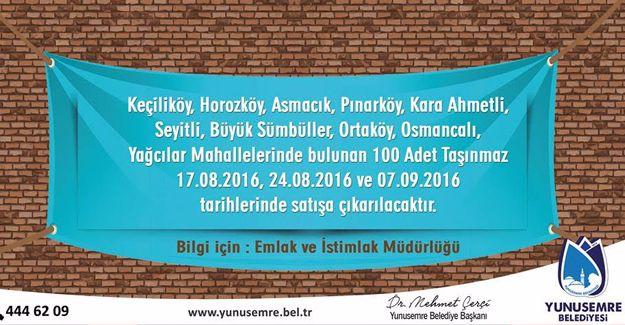 Yunusemre Belediyesi'nden 3 ayrı ihale!