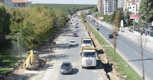 Ankara Turan Güneş Bulvarı'nda yol genişletme çalışmaları devam ediyor!