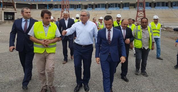 TOKİ Başkanı Ergün Turan Akyazı Stadı'nı inceledi!