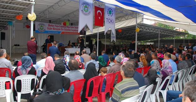 Zonguldak'ın Gökçebey İlçesi'nde 394 konutun kurası çekildi!