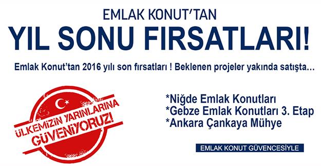 """Emlak Konut'tan """"Yıl Sonu Fırsatları"""" kampanyası!"""