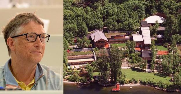 İşte Bill Gates'in 123 milyon dolarlık evi!