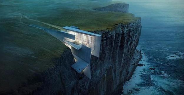 İşte uçuruma inşa edilen lüks rezidans!