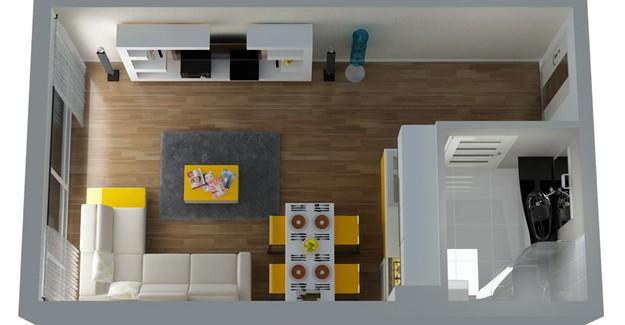 Yeni planl alanlar mar y netmeli i 39 ne g re 1 0 daireler for 30 metrekare salon dekorasyonu