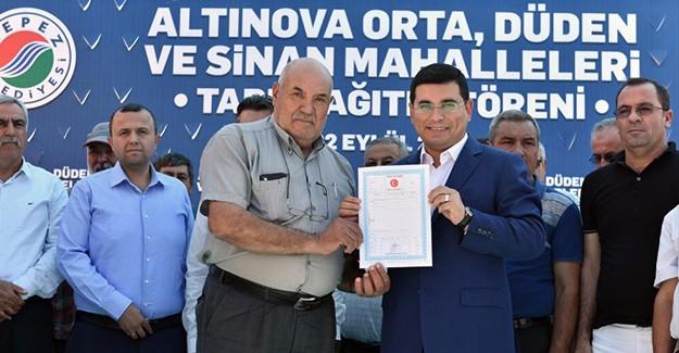Kepez Altınova'da 2. tapu dağıtım töreni gerçekleştirildi!