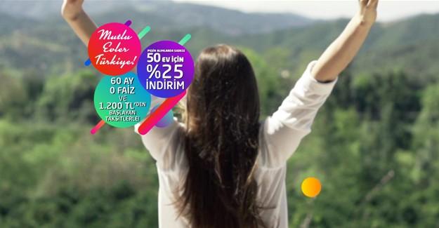 Sur Yapı Mutlu Evler Türkiye kampanyası ile 60 ay '0' faiz!