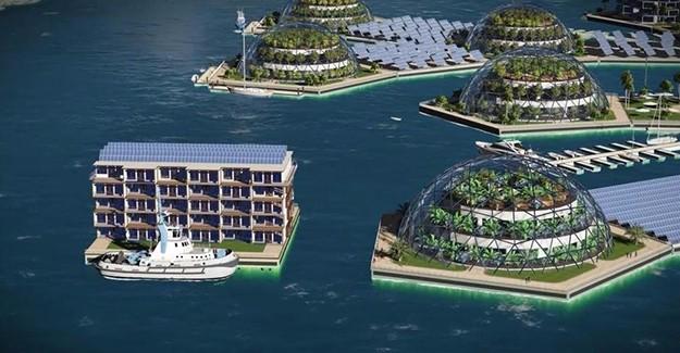 Pasifik Okyanusu'na ilk yüzen şehir inşa edilecek!