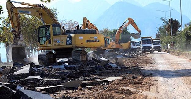Antalya Konyaaltı Sahil projesinde yıkım ve alt yapı çalışmaları bitti!