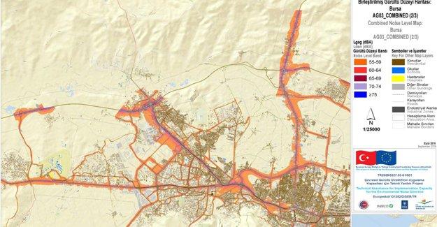 Bursa'nın gürültü haritası belirlendi!