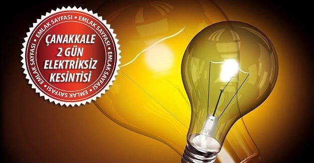 Çanakkale'de 2 günlük kesintisi!İşte 31 Ağustos-1 Eylül elektrik kesintisi olacak yerler