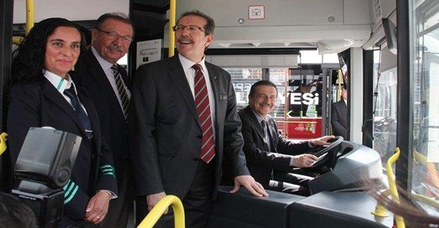 Elektrikli otobüsler Eskişehir yollarında!