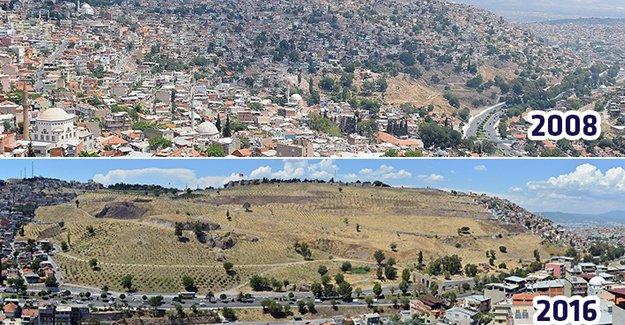 İzmir Kadifekale'nin 8 yıllık değişimi!