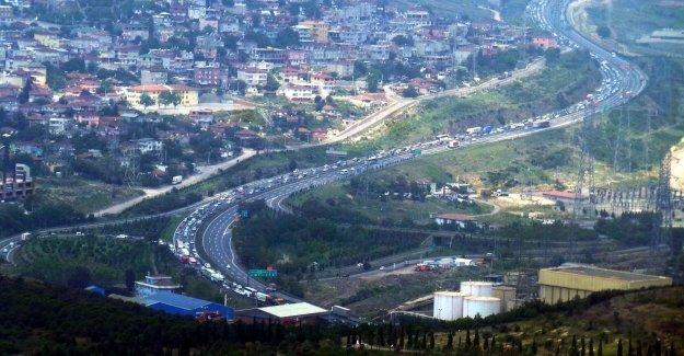 İzmit İstanbul trafik durumu 27 eylül 2015