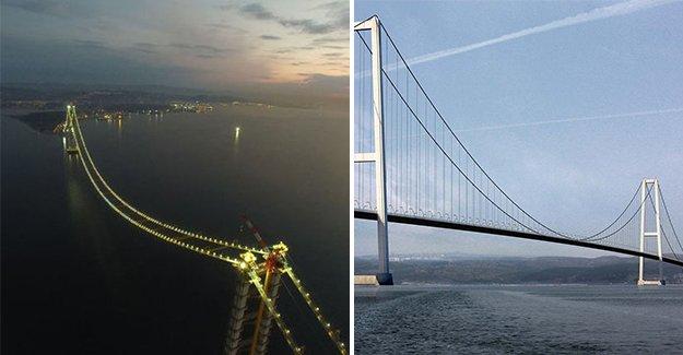 İzmit Körfez Geçiş Köprüsü ışıklandırıldı