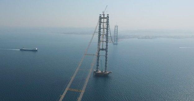 İzmit Körfez Geçişi Asma Köprüsü'nde sona gelindi!