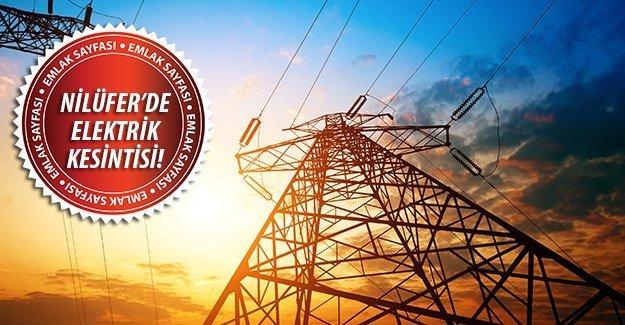 Nilüfer'de elektrik kesintisi!18 Eylül 2015