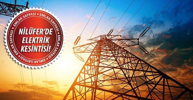 Nilüfer'de elektrik kesintisi!9 Eylül 2015