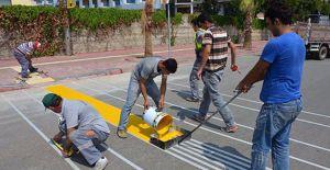 Antalya'da görme engellilere yaya geçidi yapılıyor!