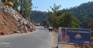 Antalya'da toprak kayması yaşanan yollara istinat duvarı!