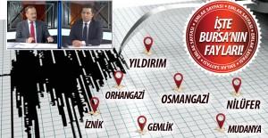 Bursa#039;nın deprem haritası açıklandı!...
