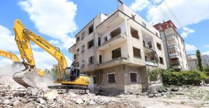 Kayseri Sahabiye Kentsel Dönüşüm projesinde yıkım çalışmaları hızlandı!