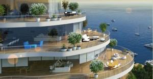 Marina ve Adalar manzaralı proje; Teras Kule!