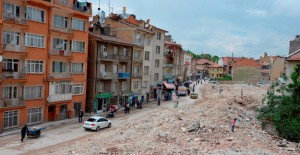 Konya Meram Larende Yokuşu'nda binaların yıkımı tamamlandı!