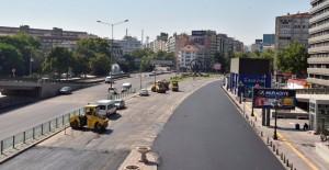 Ankara Atatürk Bulvarı'nda altyapı çalışmaları tamamlandı!