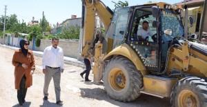 Konya Meram'da 55 ayrı ekip ile altyapı çalışması yapıyor!