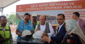 Şile Kent Meydanı ve Zemin Altı Otopark İnşaatı 2018'de bitecek!
