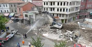 Trabzon Tabakhane Kentsel Dönüşüm Projesi'nde yıkım çalışmaları sürüyor!
