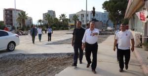 Yunusemre Muradiye'de meydan düzenleme çalışmaları devam ediyor!