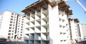 Gaziantep'te şehit yakınları ve gazilerin oturacağı konutların inşaatı sürüyor!