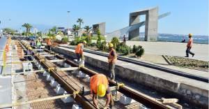 İzmir'de raylı sistem çalışmaları devam ediyor!