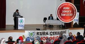 Kahramanmaraş Türkoğlu'nda TOKİ emekli konutları kurası yapıldı!