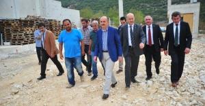 Sağlık Bakanı Mehmet Müezzinoğlu Bursa'da hastane şantiyesinde!
