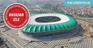 Timsah figüründe son aşamaya gelindi! İşte Bursa Büyükşehir Stadyumundan en son görüntüler! 5 Ekim 2015