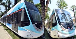 İzmir tramvayının ilk vagonu geldi!