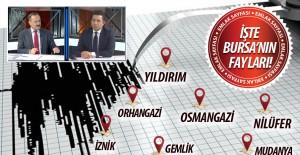 Bursa'nın deprem haritası açıklandı! İşte Bursa'nın fay hatları...