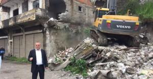 Trabzon Yomra'da kentsel dönüşüm yıkımları devam ediyor!