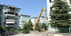 Ataevler Emniyet Sitesi'nde dönüşüm için yıkımlar başladı!