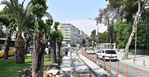 İzmir Konak Tramvayı'nda Montrö Meydanı ile Çankaya arasında çalışmalar başlıyor!