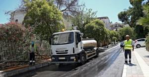 İzmir Göztepe Mahallesi'nde altyapı çalışmaları bitti!