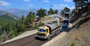 Antalya Taşatan Yolu'nda çalışmalar bitti!