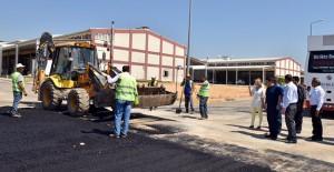 Antalya Varsak Küçük Sanayi Sitesi'nde yol çalışmaları başladı!