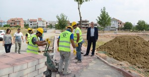 İnegöl Belediyesi yeşil alan için çalışmalarını hızlandırdı!