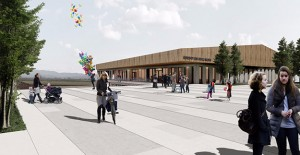 İzmir Belediyesi Foça Gerenköy'de çok amaçlı salon ve meydan inşa ediyor!