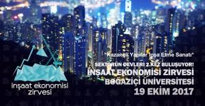 2. İnşaat Ekonomisi Zirvesi 19 Ekim'de gerçekleşecek!