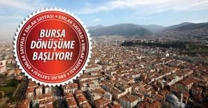 Bursa kentsel dönüşüm projelerinde geri sayım başladı...